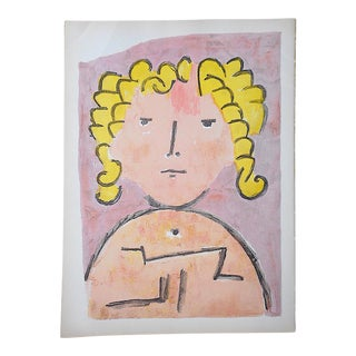 "Vintage Mid 20th C. Lithograph From Verve-""Tete D'Enfant"" by Paul Klee For Sale"