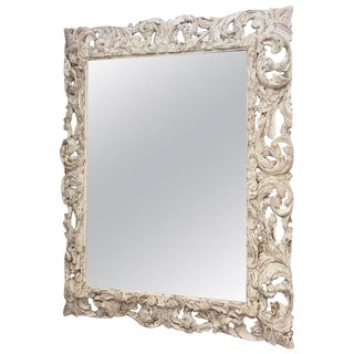 18th Century Foliate-Carved Wood Mirror Frame For Sale
