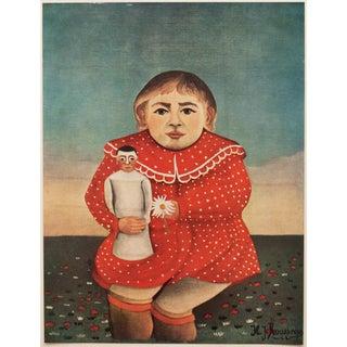 """1951 Henri Rousseau, Original Parisian """"Portrait d'Enfant Parisian"""" Photogravure For Sale"""
