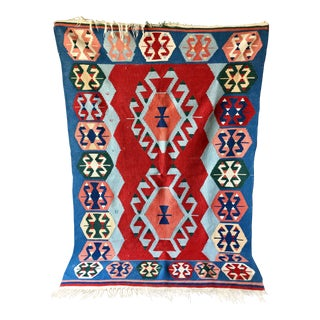 Anglo-Indian Gorgeous Kilim Rug 3'10''x5'7'' For Sale
