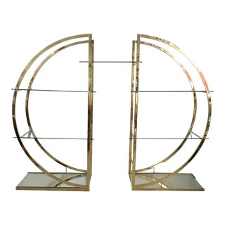 1980s Mid-Century Modern Room Divider Display Shelf For Sale