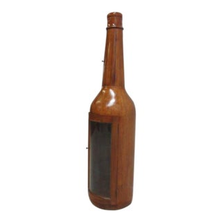 Bottle Shape Mahogany Hand Carved Curio For Sale