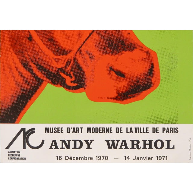 Mid-Century Modern Original 1971 Andy Warhol Exhibition Poster, Cow For Sale - Image 3 of 4