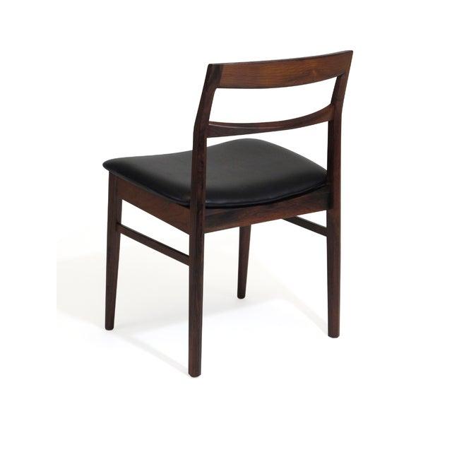 Arne Vodder Rare Arne Vodder Solid Rosewood Dining Chairs - Set of 8 For Sale - Image 4 of 13