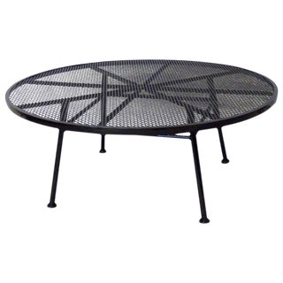 Woodard Wrought Iron Coffee Cocktail Table For Sale