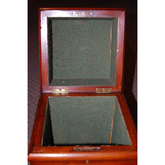 Mid-Century Modern 19th Century Tall Wooden Storage Box For Sale - Image 3 of 7