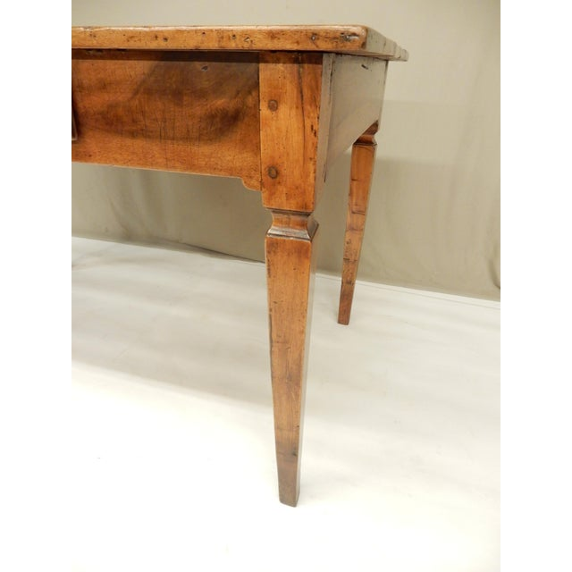 Early 19th Century Directoire' Provincial Walnut Farm Table/Desk For Sale - Image 5 of 8