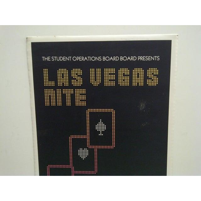 Americana 'Las Vegas Nite' Gambling Event Poster For Sale - Image 3 of 4
