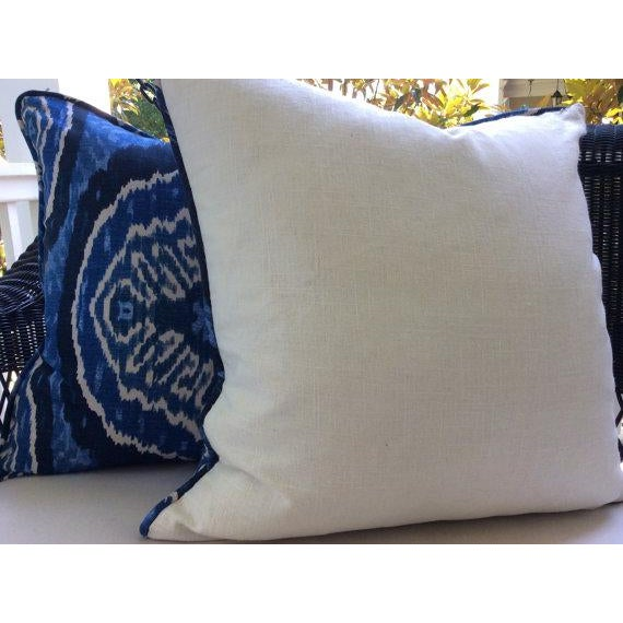 Boho Chic Duralee Masala Denim Pillow Covers - a Pair For Sale - Image 3 of 4