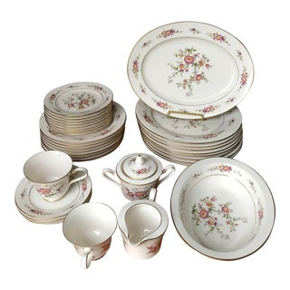 Antique Noritake, Japan Asian Song 7151 Partial Serving Set 7151- 34 Pieces/Reduced Final For Sale