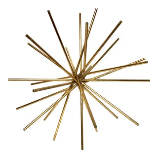 Worlds Away Urchin Starburst Gold Decorative Object - Medium For Sale