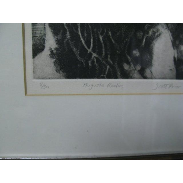1976 Original Scott Prior Etching of Rodin - Image 7 of 9