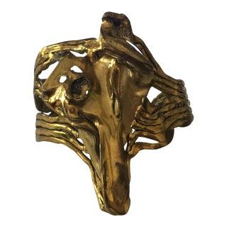 Brutalist Biomorphic Cuff For Sale