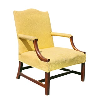 George III Mahogany Library Armchair For Sale