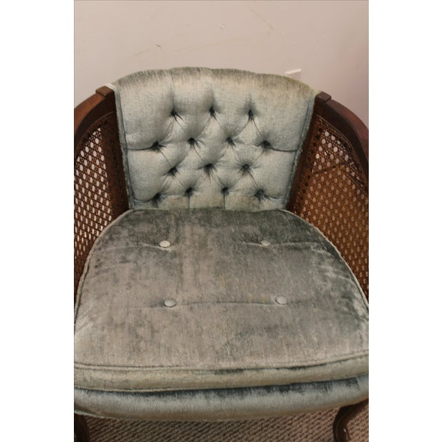 Cane & Tufted-Back Ladies Chairs - A Pair - Image 6 of 10