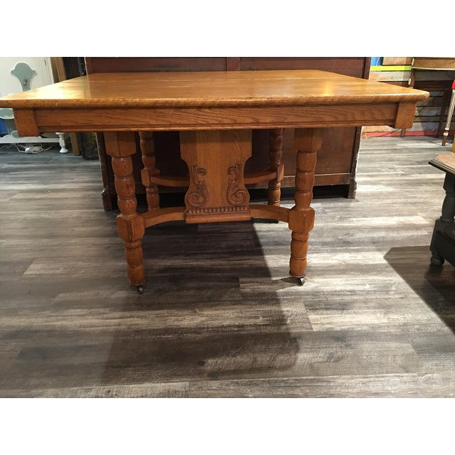 Antique Kitchen Table - Image 2 of 6