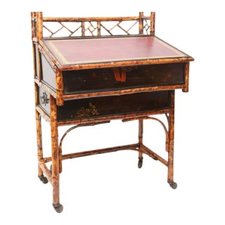 19th C. English Bamboo Desk For Sale