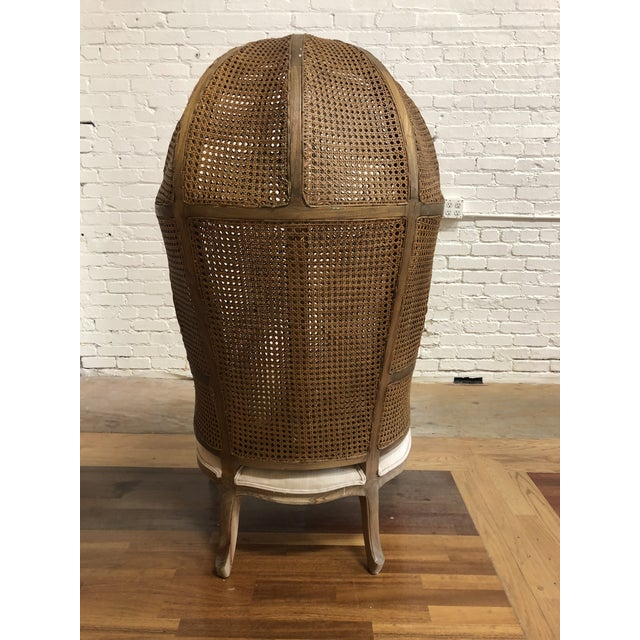 Porters Style Balloon Caned Chair For Sale - Image 4 of 13
