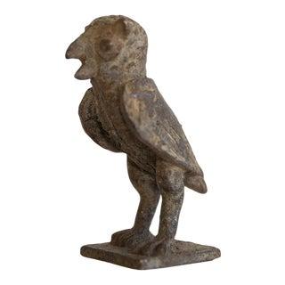 Vintage African Bronze Owl For Sale