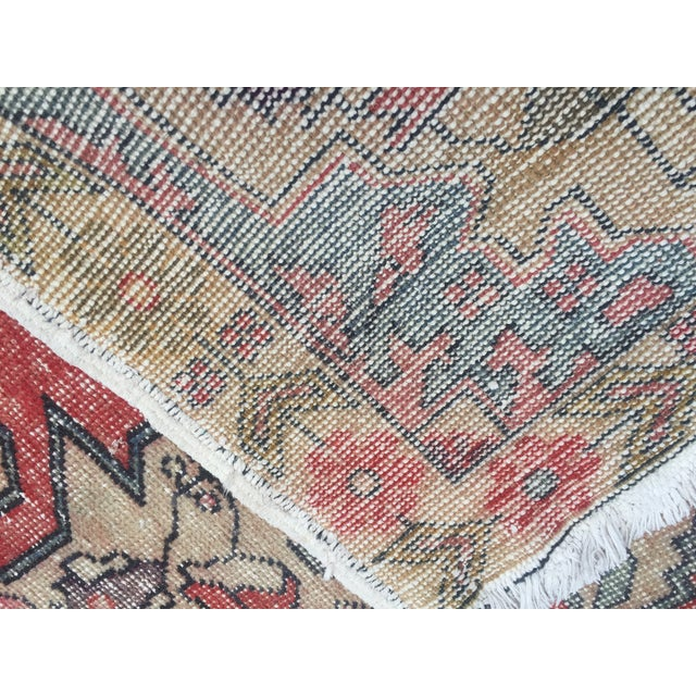 "Vintage Anatolian Floor Wool Rug - 4'8"" x 7'4"" For Sale - Image 5 of 6"