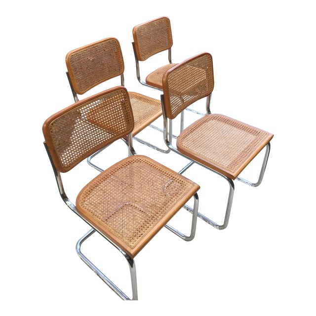 Marcel Breuer-Style Cane Chairs - Set of 4 - Image 1 of 6