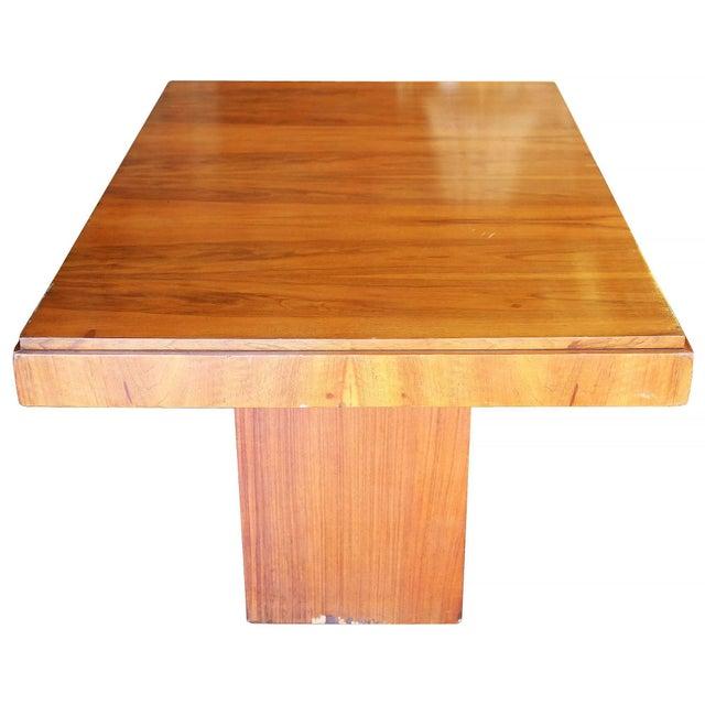 Art Deco Charles Dudouyt Cubist Inspired Walnut Desk For Sale - Image 3 of 10