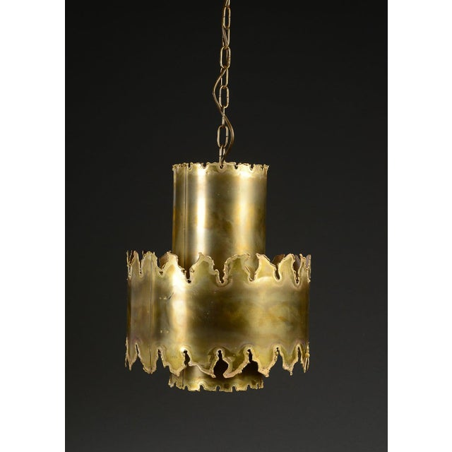 Mid-Century Modern Brutalist Style Pendant by Holm Sorensen For Sale - Image 3 of 4