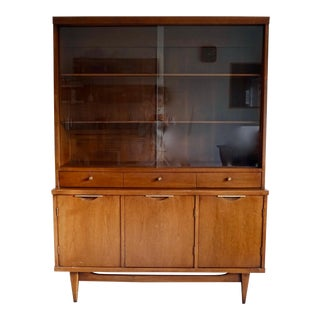1950s Mid-Century Modern Kent-Coffey Tableau Collection Hutch For Sale