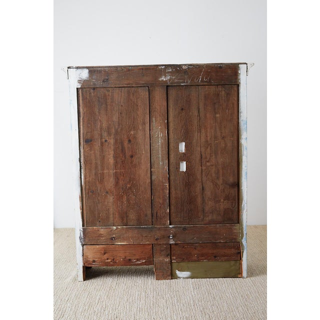 Country French Provincial Painted Armoire Cabinet For Sale - Image 12 of 13