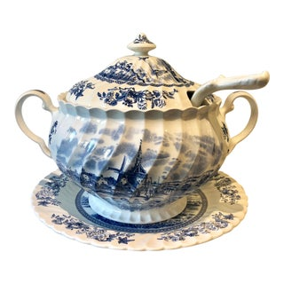 Johnson Brothers English Tureen & Under-Plate Set For Sale
