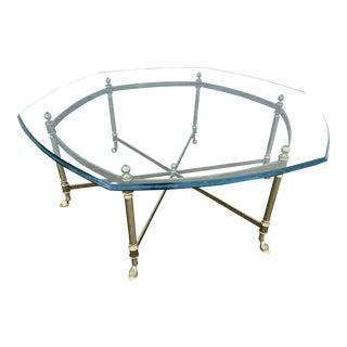20th Century Hollywood Regency La Barge Goat Foot Coffee Table For Sale