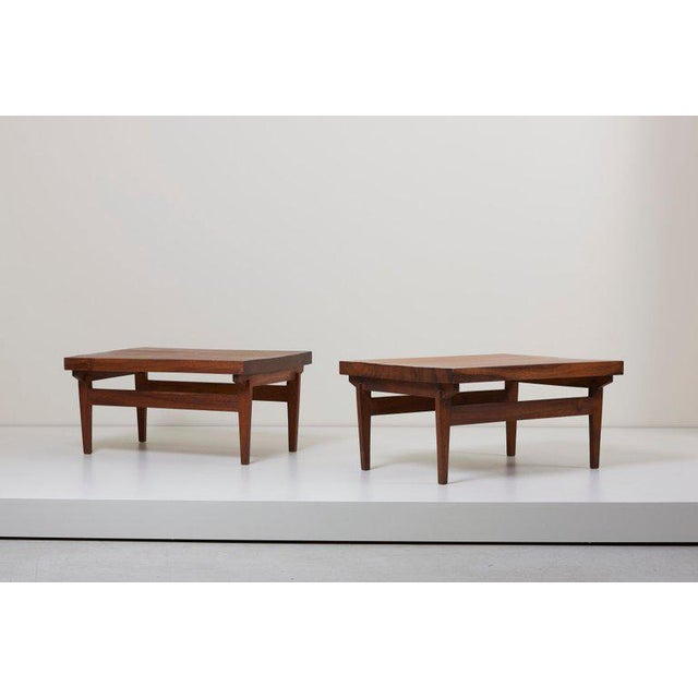 Arts & Crafts Pair of Signed Studio Craft End Tables, Guatemala, 1960s For Sale - Image 3 of 10