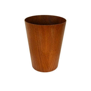 1960s Vintage Teak Martin Åberg for Servex Wastepaper Basket For Sale
