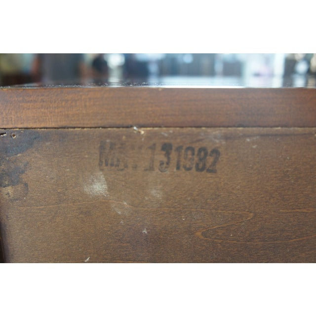 1982 Henkel Harris Chippendale Wild Black Cherry Tallboy Dresser For Sale - Image 11 of 13
