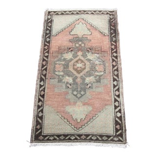 Turkish Wool Decorative Vintage Rug - 1′8″ × 3′1″