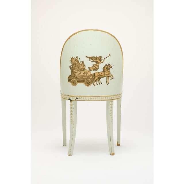 Shabby Chic Early 20th Century Milton Textiles Neoclassical Appliqué Chair For Sale - Image 3 of 6
