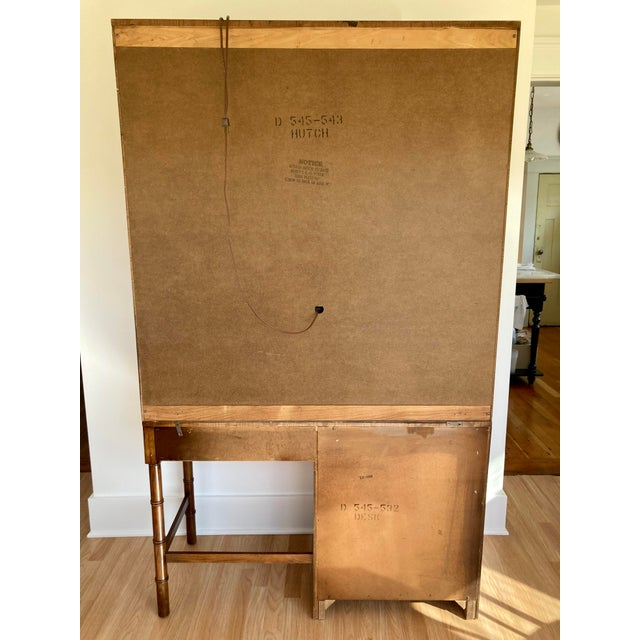 Late 20th Century Dixie Campaign Desk With Hutch For Sale - Image 12 of 13