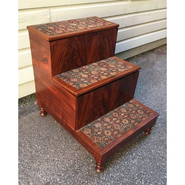 19th Century American Southern Flame Mahogany Bed Steps For Sale In Charleston - Image 6 of 7