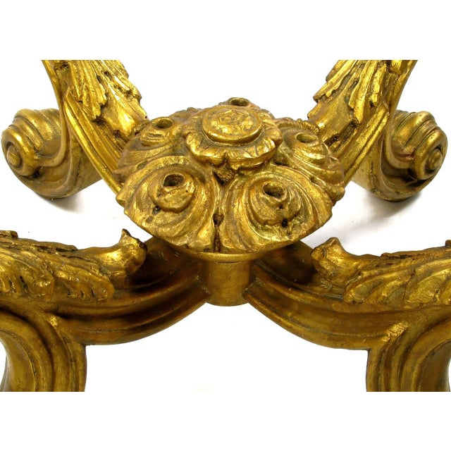 Hand-Carved and Gilt Spanish Rococo Coffee Table - Image 5 of 7