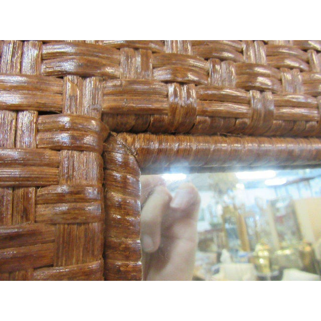 Tall Rattan Woven Mirror - Image 4 of 8