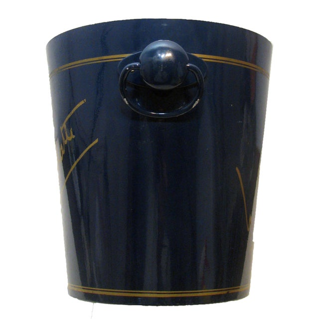 Unique navy blue and gold enamel wine/champagne bucket from the well respected French champagne house of Nicolas...