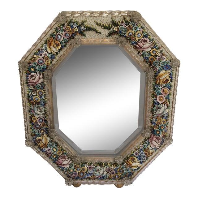 Antique Micro Mosaic Venetian Glass Mirror For Sale