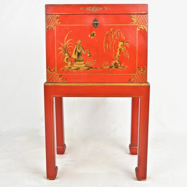 Chinoiserie Box on Stand For Sale - Image 13 of 13