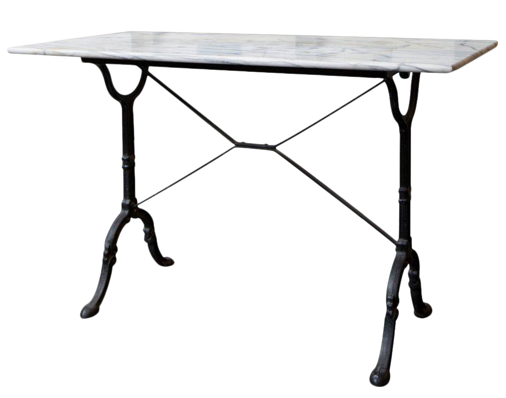 Antique French Marble Bistro Table