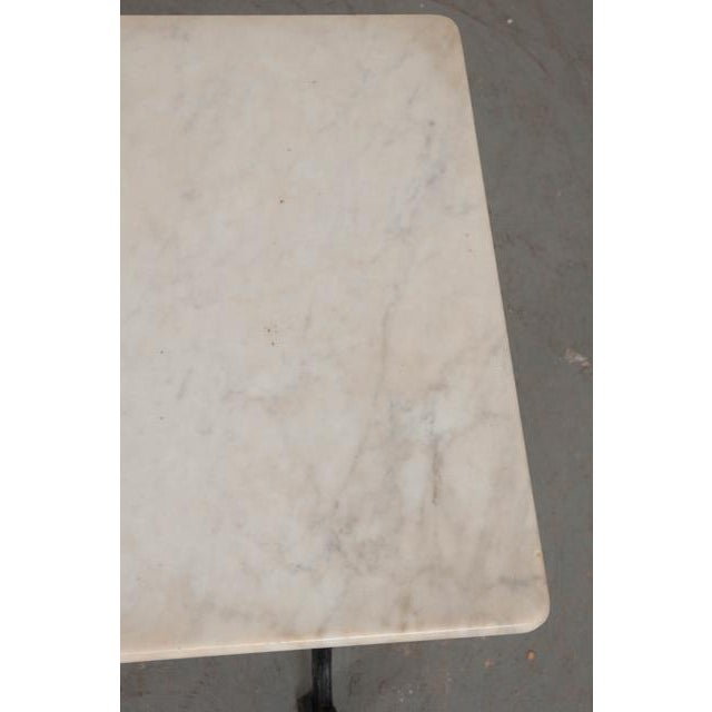 French Early 20th Century Marble Top Garden Table For Sale In Baton Rouge - Image 6 of 11