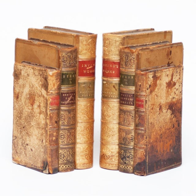 American Classical 18th Century American Classical Antique Book Bookends - a Pair For Sale - Image 3 of 10