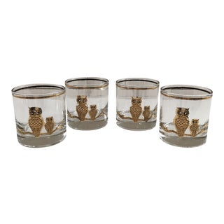 1950s Culver Owl Rocks Glasses - Set Of For Sale
