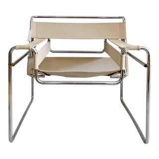 1950s Vintage Canvas Wassily Chair by Marcel Breuer For Sale