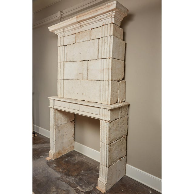 18th Century Neoclassical French Limestone Fireplace Surround For Sale - Image 9 of 9