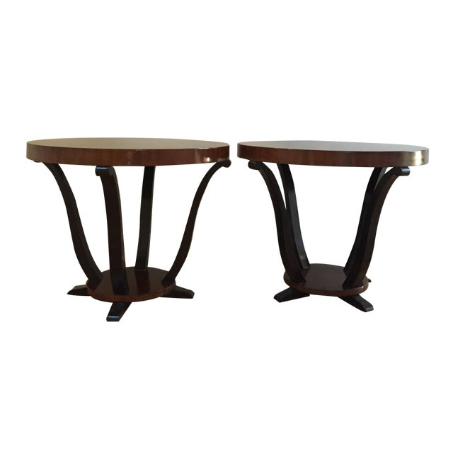 Art Deco Styke Rosewood Side Tables - A Pair - Image 1 of 4
